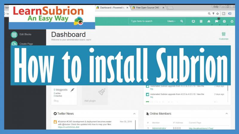 How to install Subrion CMS?